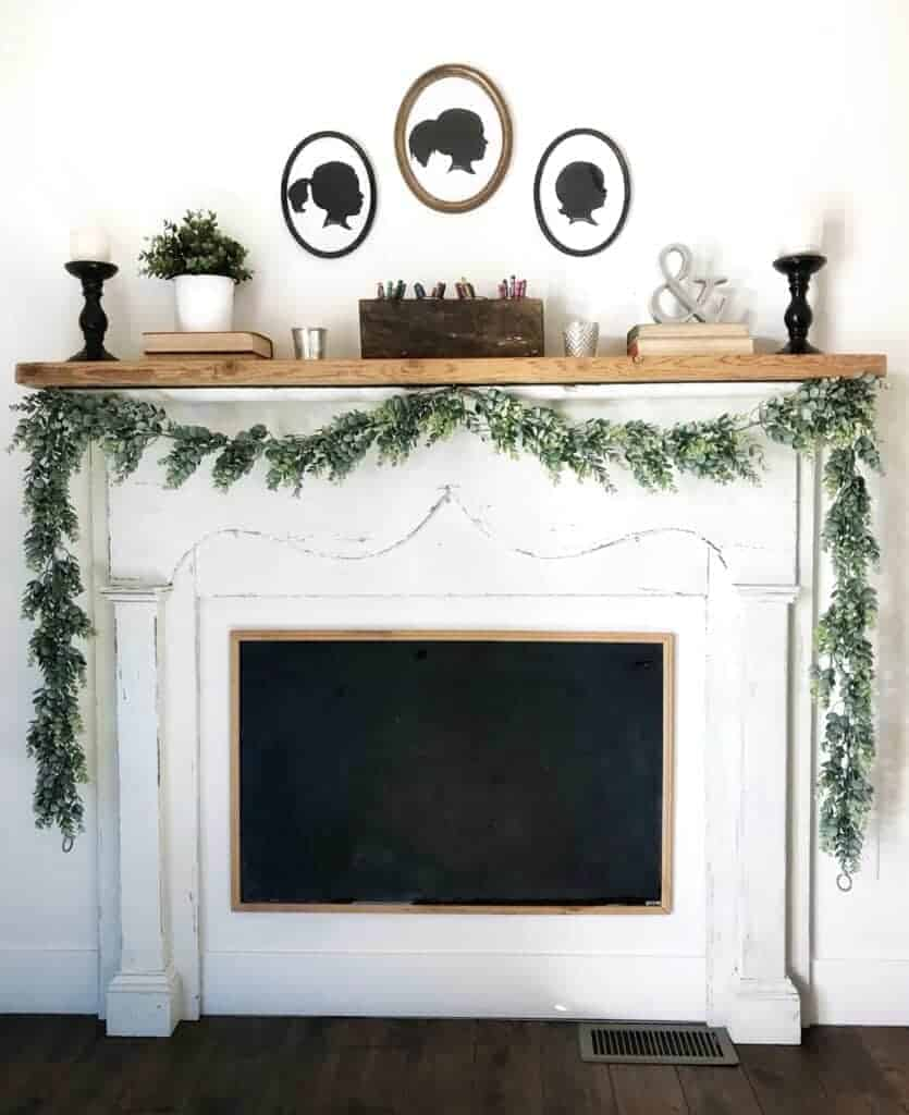 faux fireplace mantel - diy for only $75! - boxwood & spruce