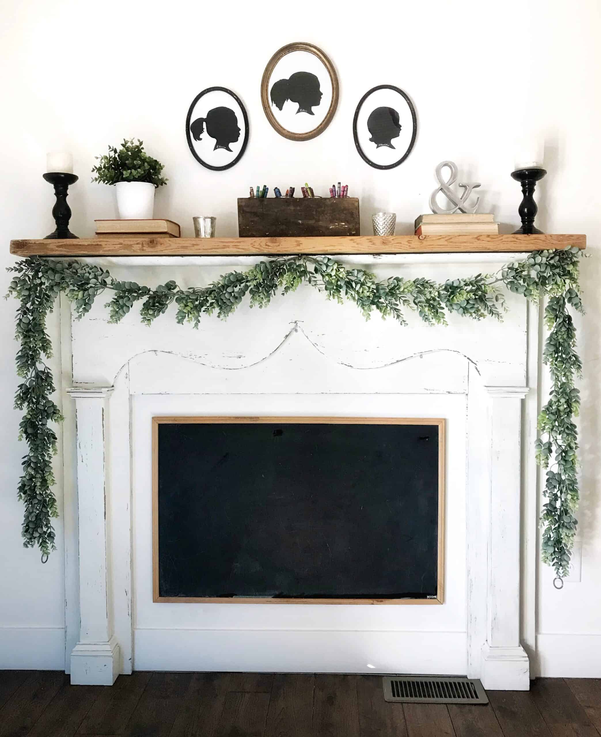 Faux Antique Mantel Diy For Only 75 Boxwood Spruce