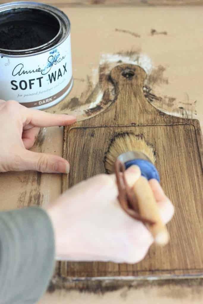 Dollar Store Tutorial Turn Cutting Board Into A Faux Antique Wood Board